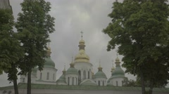 Architecture Of Kiev (Kyiv) . Saint Sophia. The Symbol Of Ukraine Stock Footage