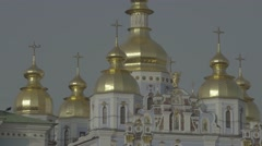 Architecture Of Kiev. Dome of St. Michael's Cathedral. Stock Footage