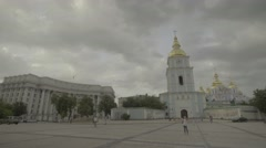 Architecture Of Kiev (Kyiv). The St. Michael's Cathedral. Stock Footage