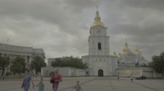 Kiev (Kyiv) in the summer. Ukraine. St. Michael's Cathedral. Stock Footage