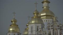 St Michael's Cathedral. Dome. Kiev (Kyiv). Ukraine Stock Footage