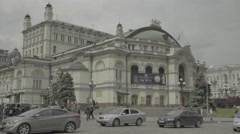 Kiev (Kyiv) , Ukraine. The city center in the afternoon. The National Opera Stock Footage