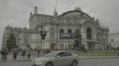 Kiev (Kyiv) , Ukraine. The Building Of The National Opera . Timelapse Stock Footage