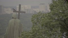 Kiev (Kyiv) in the summer. Ukraine. Monument To Volodymyr The Great. Stock Footage