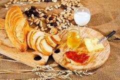 Decorative Breakfast Stock Photos