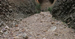 Box Canyon dry river bed Scout Group hike DCI 4K Stock Footage