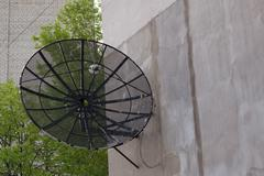 Antenna Dish on The Wall Stock Photos