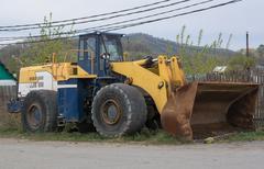 Heavy Dozer With Bucket - stock photo