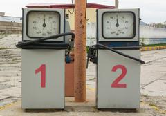 Two Old Gasoline Pump Stock Photos