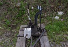 Metal lever arm for switching railways Kuvituskuvat