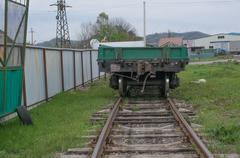 Train carriage at a railway - stock photo
