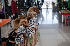 Rocking Horses on The Wheels - stock photo