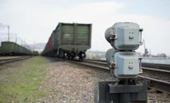 Railroad semaphore Stock Photos