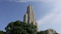 The Cathedral of Learning in Pittsburgh Stock Footage