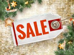 Christmas sale design template. EPS 10 - stock illustration