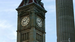 Birmingham, England.  Big Brum clock MS UHD Stock Footage