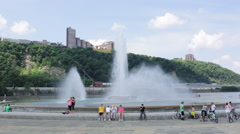 Point State Park Fountain  Stock Footage