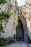 Entrance cavern known as Ear of Dionysius Archaeological Park Syracuse, Sicil Stock Photos