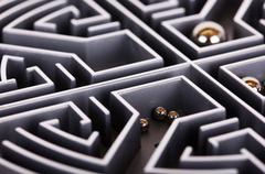 Close up of a grey labyrinth or maze Stock Photos