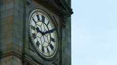 Birmingham, England.  Big Brum CU south face. UHD Stock Footage