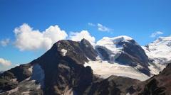 Panorama view of Bernina massif Stock Footage