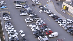 The Outdoor Car Parking Stock Footage