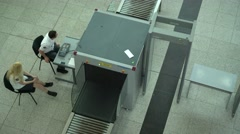 Airport Security Check Stock Footage