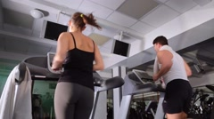 Running in the gym club Stock Footage