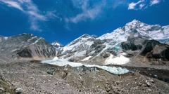 Everest, Nuptse and Lhotse mountains Stock Footage