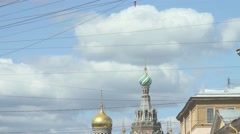 Church Of The Savior On Spilled Blood Stock Footage