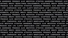 MINDFULNESS Keywords, Background Overlays, Alpha Channel, Loop, 4k - stock footage