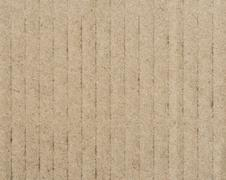 Corrugated cardboard paper texture background - stock photo