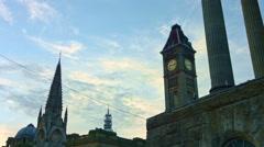 Birmingham, England. Time lapse of Big Brum and Chamberlain Memorial UHD Stock Footage