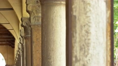 Row of ancient columns Stock Footage