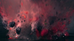 Berry Explosion Stock Footage