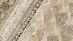 Marble facade of a renaissance palace Stock Footage