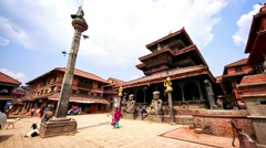 Durbar Square in Bhaktapur. Stock Footage