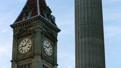 Birmingham, England.  Big Brum and column on Town Hall UHD Stock Footage