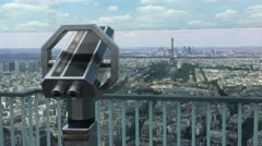 Panoramic View Of Paris From Montparnasse Tower Stock Footage