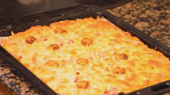 Square Pizza Pie Stock Footage