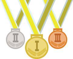 Brasil, rio 2016, colored medals. Digital vector image - stock illustration
