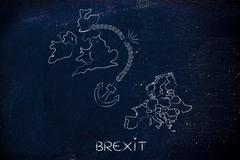 Brexit, broken anchor (remainers' point of view) Stock Illustration