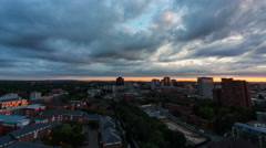 Birmingham, England. Sunset time lapse from a high building. 4K Stock Footage