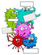 Colorful Evil Viruses Piirros