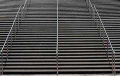 Modern Aluminum Stair Case Stock Photos