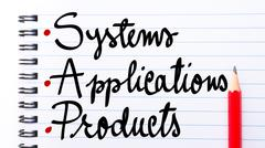 SAP Systems Applications Products - stock photo