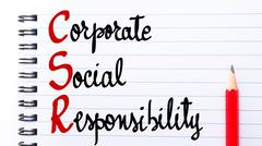 CSR Corporate Social Responsibility - stock photo