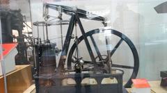 Sample of hydro turbine engine Inside of Science Museum London Stock Footage