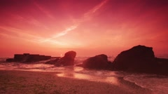 Sunrise at the sea - stock footage