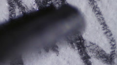 Pencil drawing on white Paper Closeup Stock Footage